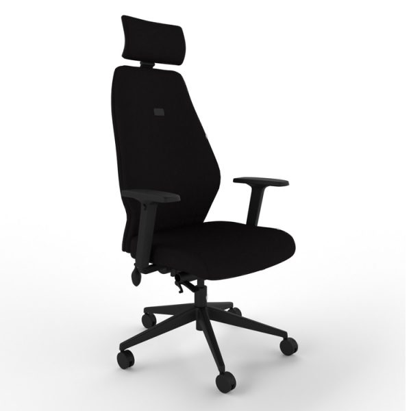 mi-ergo M250 High Back Chair with Multifunction Arms and Headrest