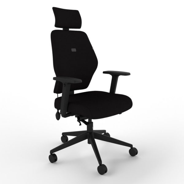 mi-ergo M150 Medium Back Chair with Multifunction Arms and Headrest